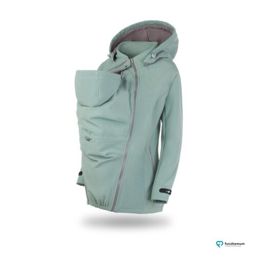 Fun2bemum babywearing softshell jacket Enigma do noszenia-2 mięta
