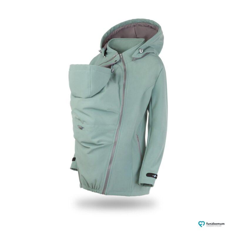 Fun2bemum babywearing softshell jacket Enigma do noszenia-2 mięta
