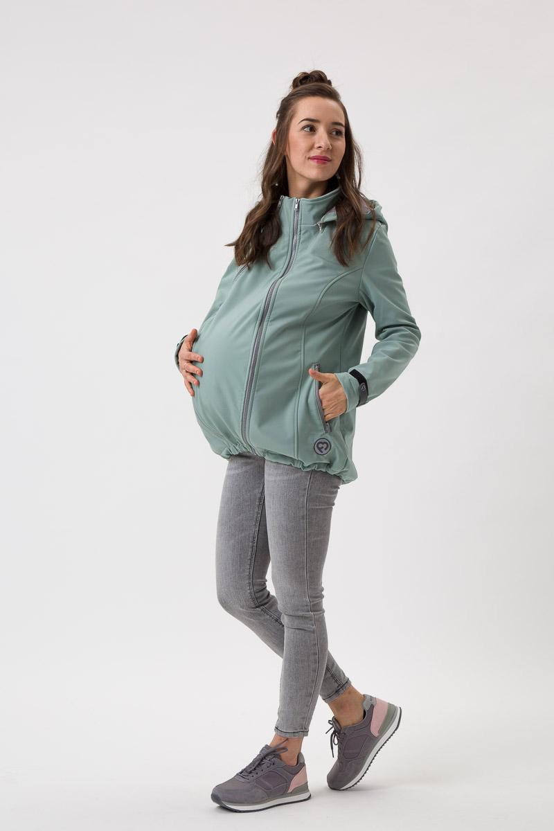 Fun2bemum_babywearing_softshell_jacket_Enigma_mint maternity kurtka ciazowa do noszenia dzieci mieta 2