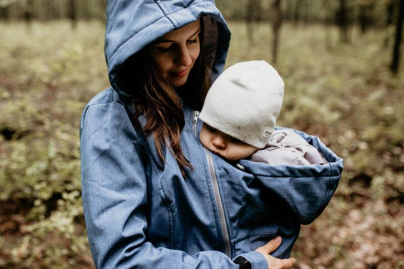 Fun2bemum babywearing softshell jacket enigma indigo melange kurtka softshell do noszenia-10