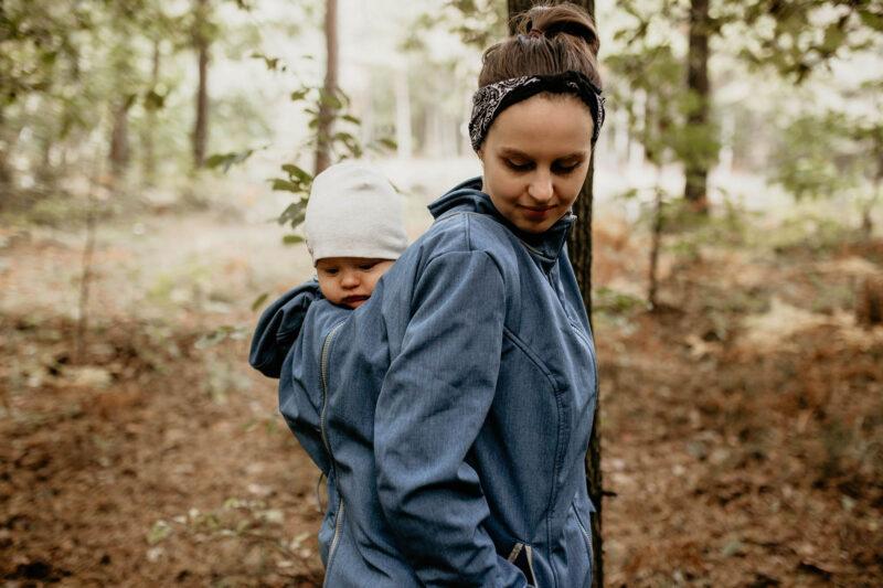 Fun2bemum babywearing softshell jacket enigma indigo melange kurtka softshell do noszenia-13
