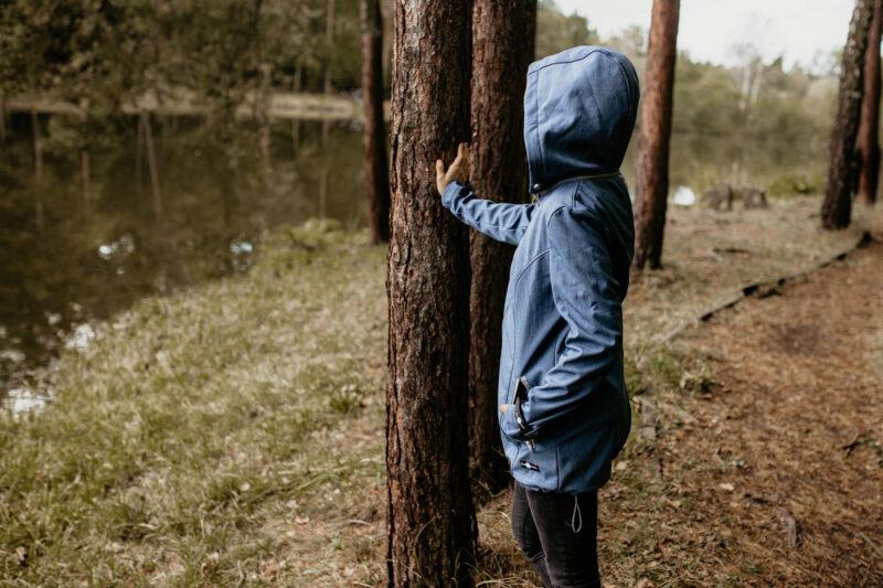 Fun2bemum babywearing softshell jacket enigma indigo melange kurtka softshell do noszenia-18