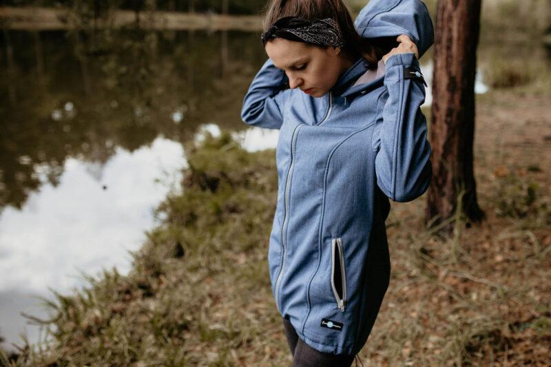 Fun2bemum babywearing softshell jacket enigma indigo melange kurtka softshell do noszenia-20