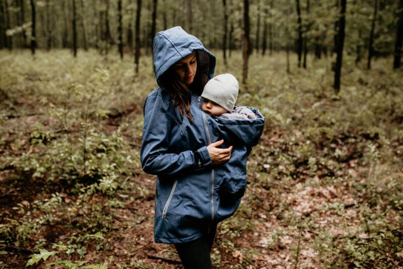 Fun2bemum babywearing softshell jacket enigma indigo melange kurtka softshell do noszenia-8
