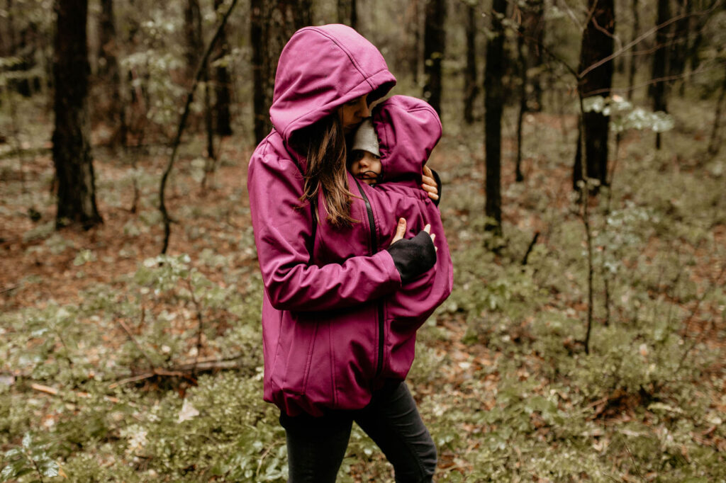 Fun2bemum babywearing softshell jacket everest plum melange śliwka kurtka softshell do noszenia-19