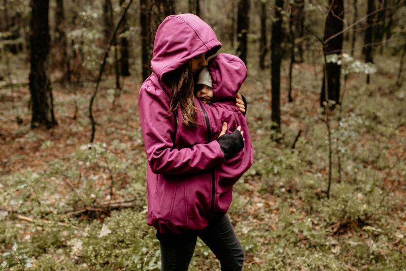 Fun2bemum babywearing softshell jacket everest plum melange śliwka kurtka softshell do noszenia-19