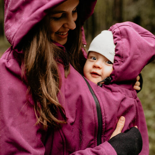 Fun2bemum babywearing softshell jacket everest plum melange śliwka kurtka softshell do noszenia-21