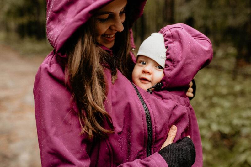 Fun2bemum babywearing softshell jacket everest plum melange śliwka kurtka softshell do noszenia-21