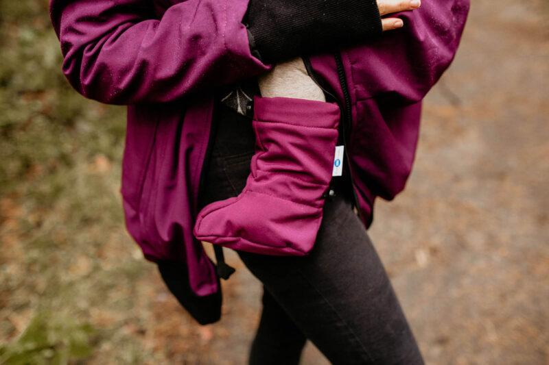 Fun2bemum babywearing softshell jacket everest plum melange śliwka kurtka softshell do noszenia-9