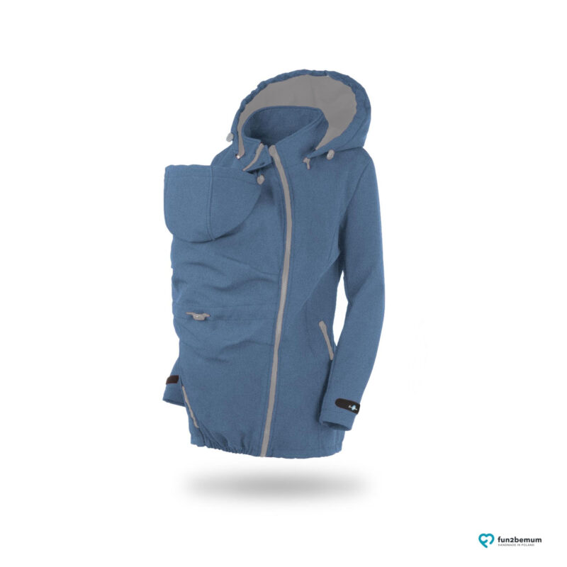 Fun2bemum enigma softshell Indygo melange 2 grey zippersII
