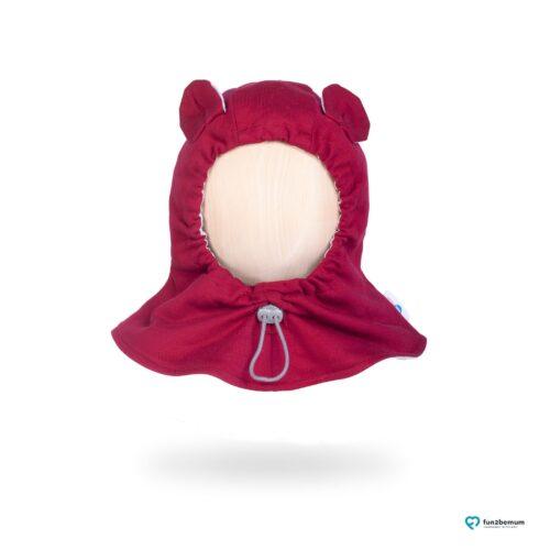 Fun2bemum baby hat balaclava czapeczka dla dzieci burgund