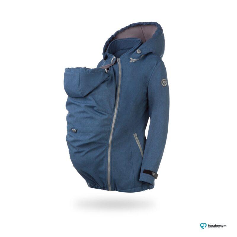 Fun2bemum babywearing softshell Enigma maternity kurtka do noszenia dzieci ciazowa jeans melange