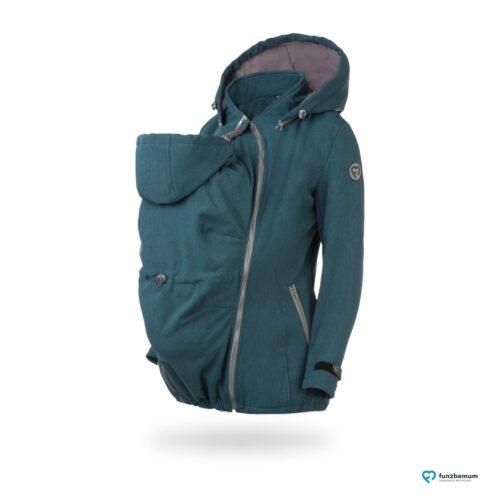Fun2bemum babywearing softshell Enigma maternity kurtka do noszenia dzieci ciazowa petrol melange