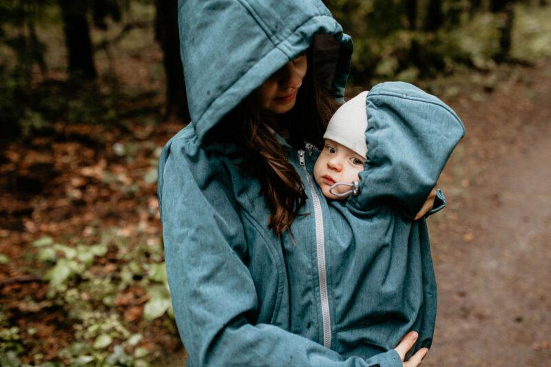 Fun2bemum babywearing softshell jacket enigma petrol green zieleń butelkowa kurtka softshell do noszenia-3