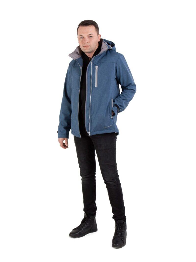 Fun2bemum babywearing softshell jacket for dads kurtka dla taty indigo melange