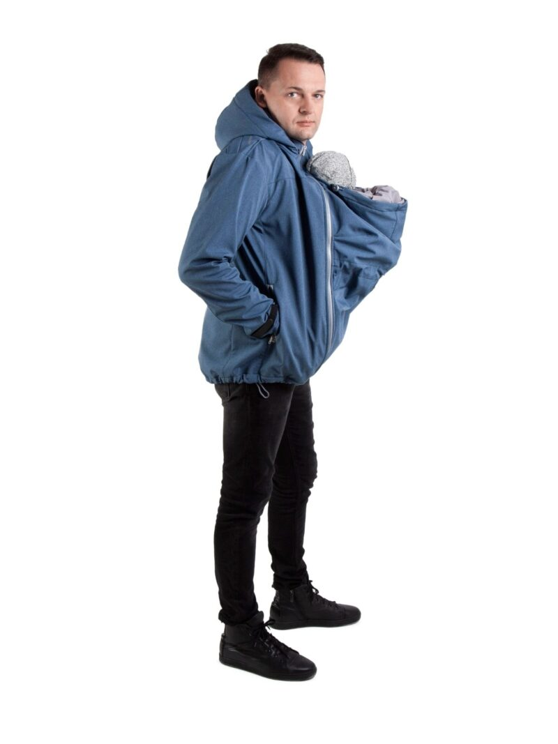 Fun2bemum babywearing softshell jacket for dads kurtka dla taty indigo melange_3