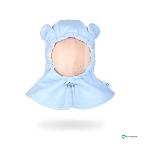 Fun2bemum kominiarka dla dzieci balaclava hat baby blue organic