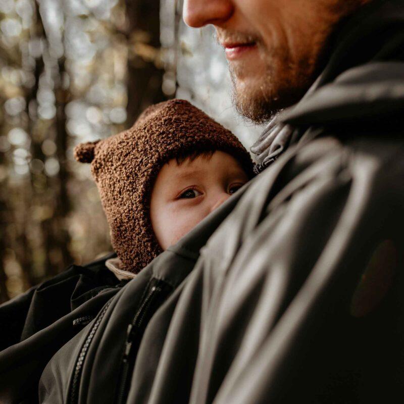 Fun2bemum Babywearing softshell jacket for dads Elbrus graphite 1
