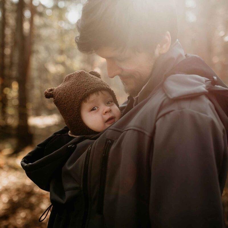 Fun2bemum Babywearing softshell jacket for dads Elbrus graphite 4
