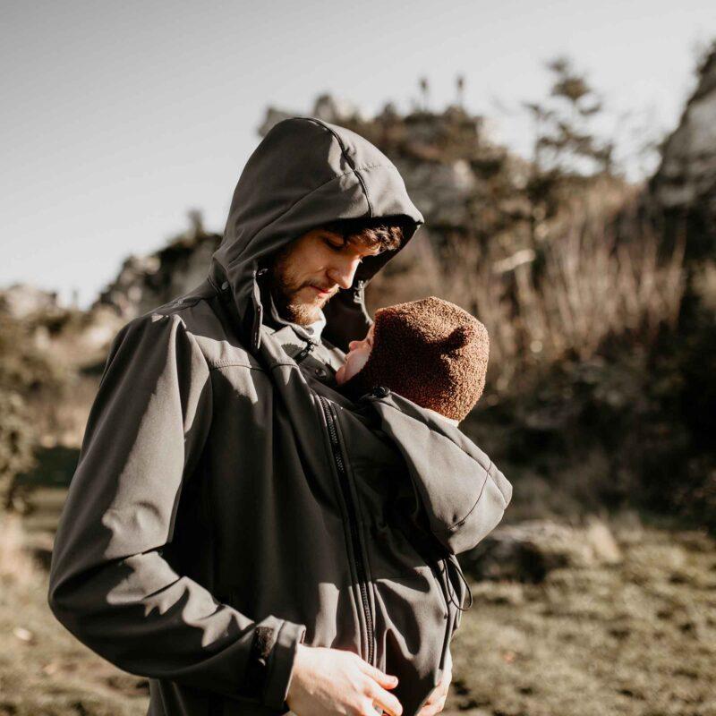 Fun2bemum Babywearing softshell jacket for dads Elbrus graphite 5