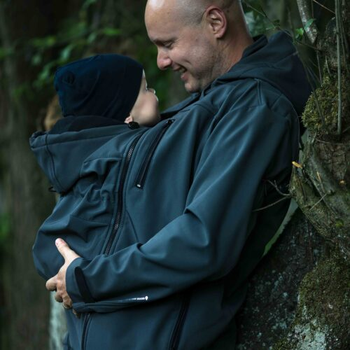 Fun2bemum babywearing softshell for dad jacket Elbrus 1