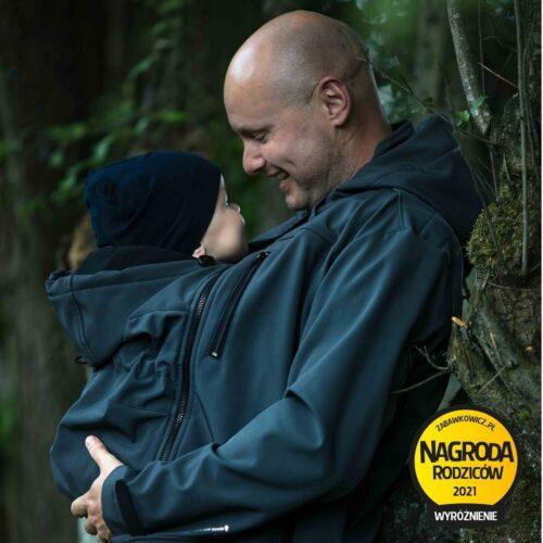 Fun2bemum softshell jacket Elbrus for dad kurtka do noszenia dzieci dla taty navy granat
