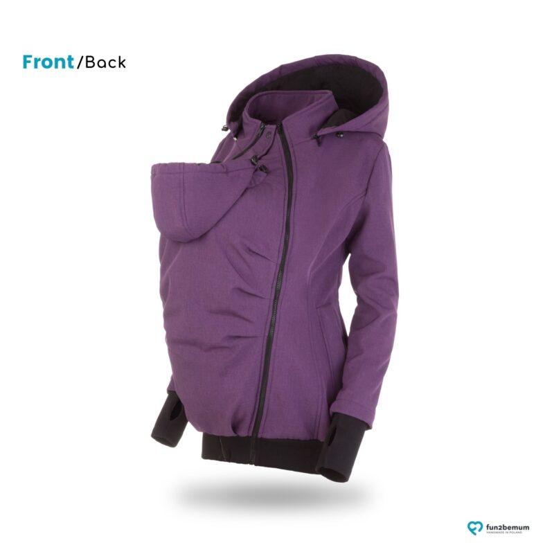 Fun2bemum babywearing softshell jacket Everest maternity purple melange kurtka ciazowa do noszenia