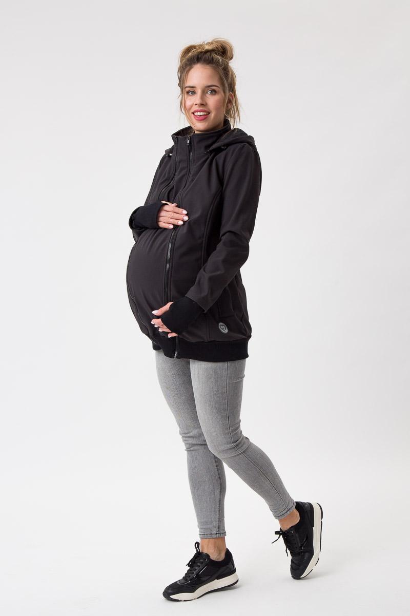 Fun2bemum babywearing softshell jacket everest maternity black kurtka ciazowa do noszenia dzieci czarna 1