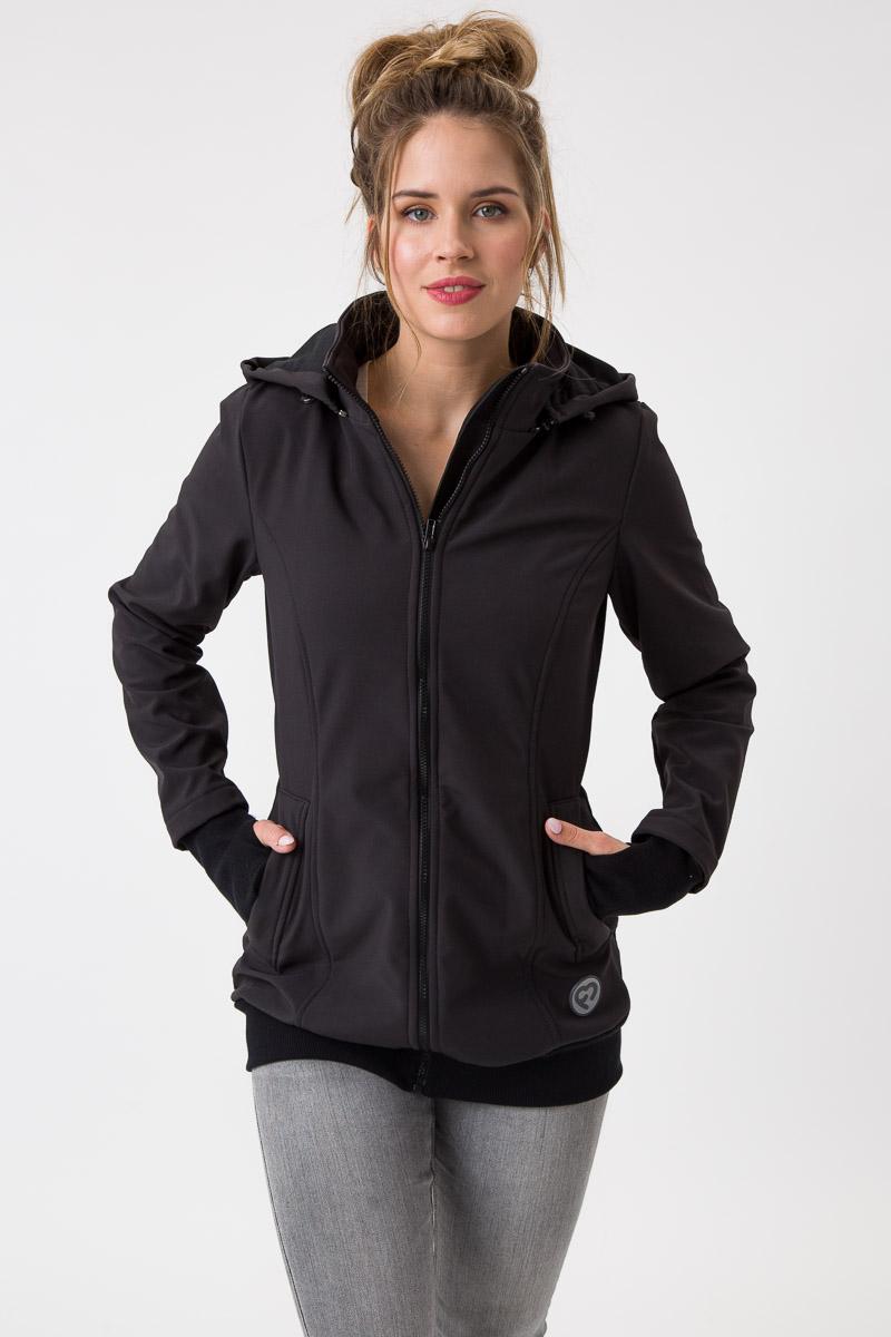 Fun2bemum babywearing softshell jacket everest maternity black kurtka ciazowa do noszenia dzieci czarna 4