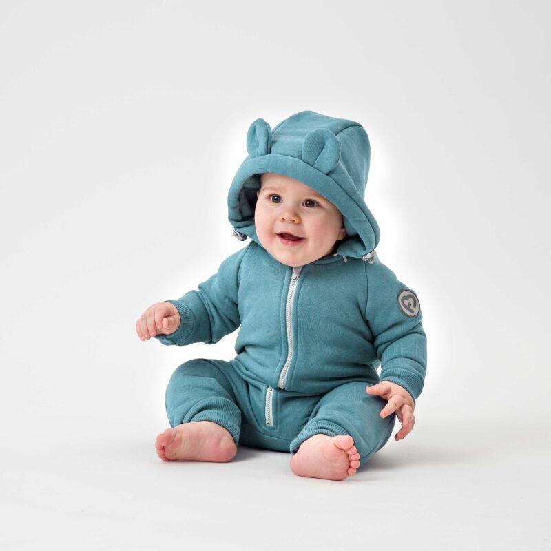 Fun2bemum kombinezon bawelniany cotton overall for kids dla dzieci brudna mieta dust mint
