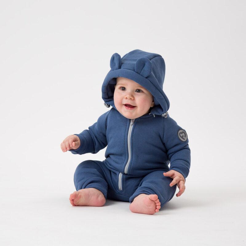 Fun2bemum kombinezon bawelniany dla dzieci cotton overall for kids jeans blue niebieski