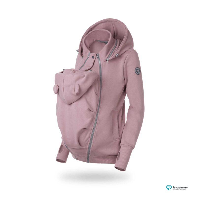 Fun2bemum Pola babywearing sweatshirt bluza do noszenia dirty pink brudny roz duch