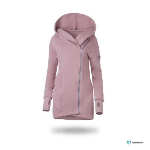 Fun2bemum babywearing coat Kaya dirty pink plaszcz do noszenia brudny