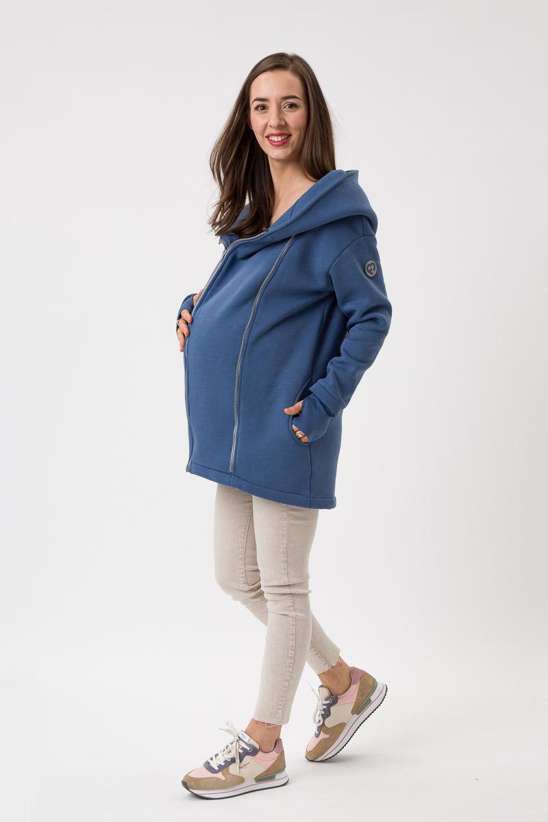 Fun2bemum babywearing coat Kaya maternity plaszcz ciazowy do noszenia dzieci jeans niebieski blue 1