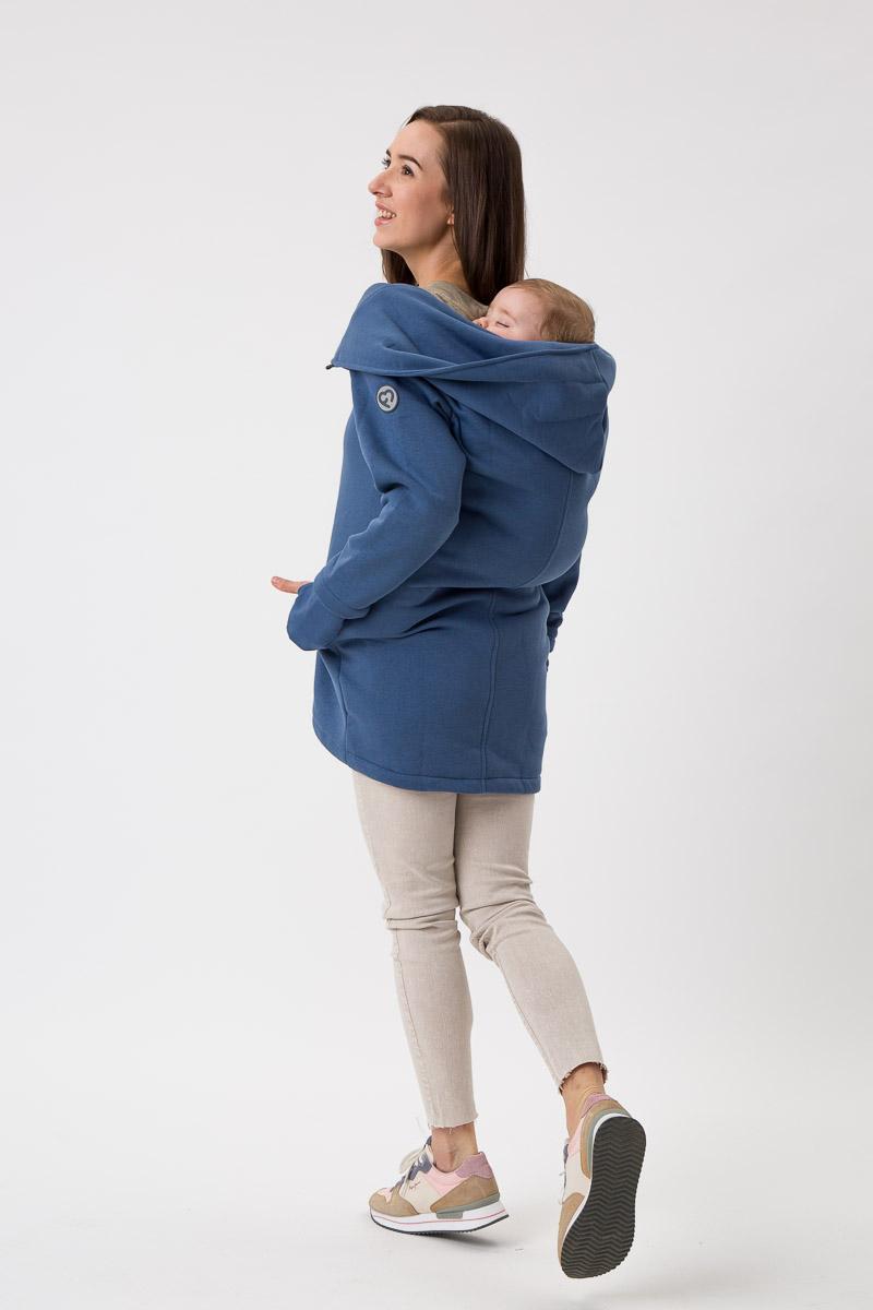 Fun2bemum babywearing coat Kaya maternity plaszcz ciazowy do noszenia dzieci jeans niebieski blue 3