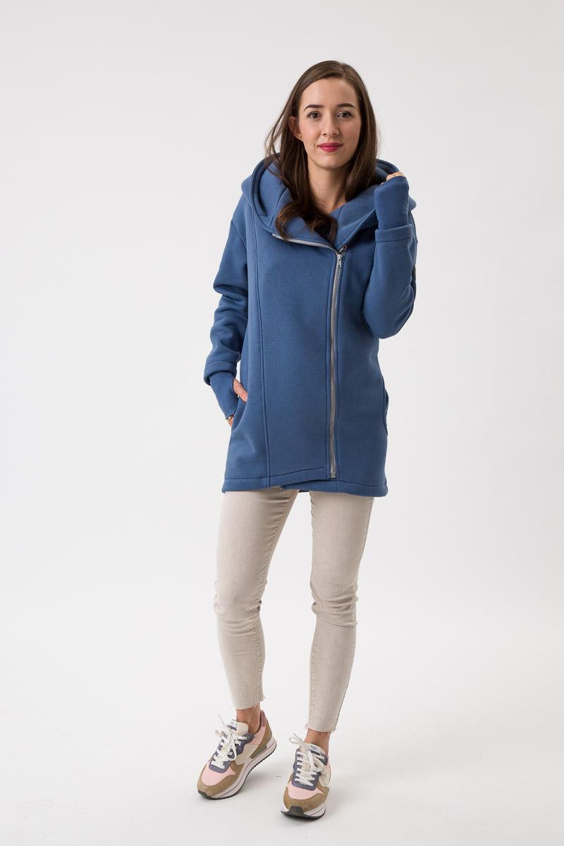 Fun2bemum babywearing coat Kaya maternity plaszcz ciazowy do noszenia dzieci jeans niebieski blue 4
