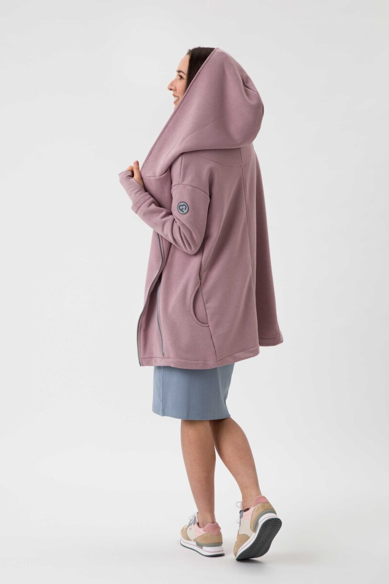 Fun2bemum babywearing coat Kaya plaszcz do noszenia dzieci dirty pink brudny roz 2