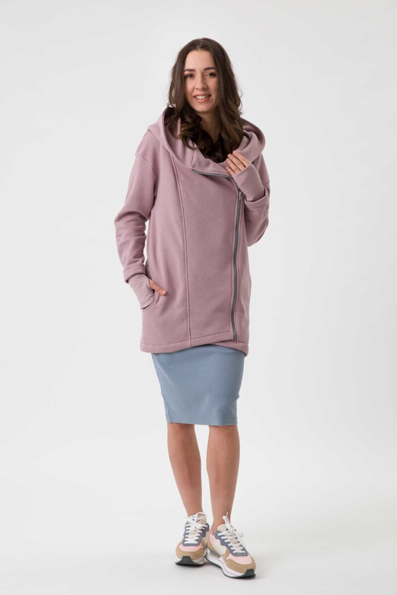 Fun2bemum babywearing coat Kaya plaszcz do noszenia dzieci dirty pink brudny roz 3