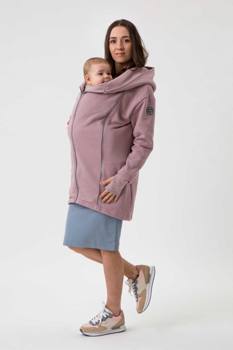 Fun2bemum babywearing coat Kaya plaszcz do noszenia dzieci dirty pink brudny roz 4