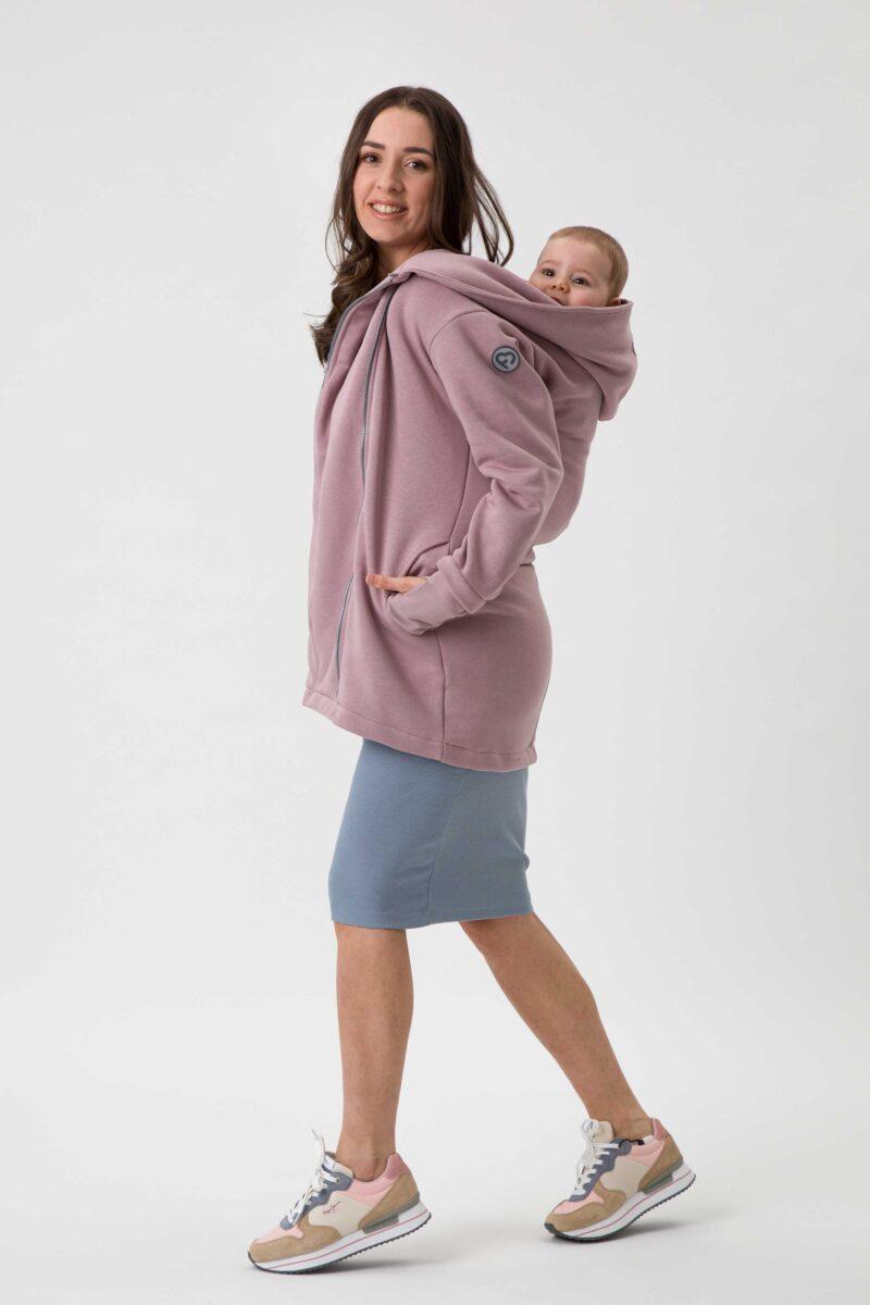 Fun2bemum babywearing coat Kaya plaszcz do noszenia dzieci dirty pink brudny roz 5
