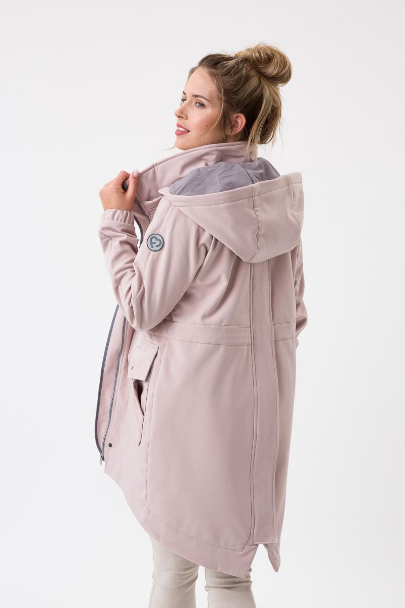Fun2bemum babywearing softshell parka coat maternity plaszcz do noszenia dzieci ciazowy Jasny roz 3