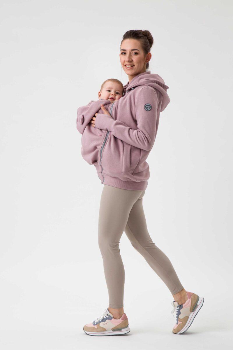 Fun2bemum babywearing sweatshirt bluza do noszenia Pola dirty pink brudny roz 6