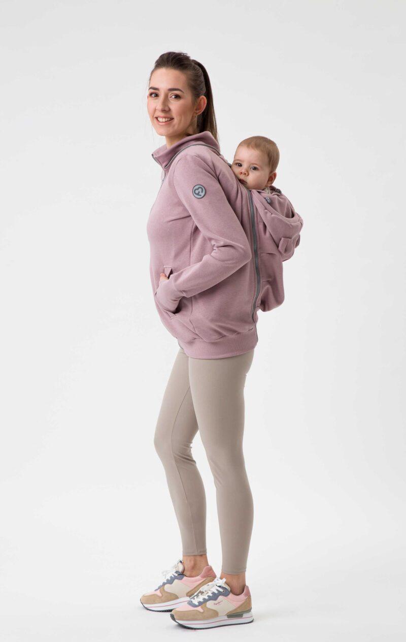 Fun2bemum babywearing sweatshirt bluza do noszenia Pola dirty pink brudny roz 7