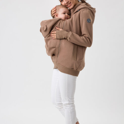 Fun2bemum babywearing sweatshirt bluza do noszenia latte 3