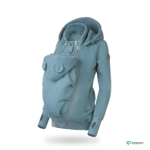 Fun2bemum bluza do noszenia Pola babywearing maternity sweatshirt dust mint brudna mięta