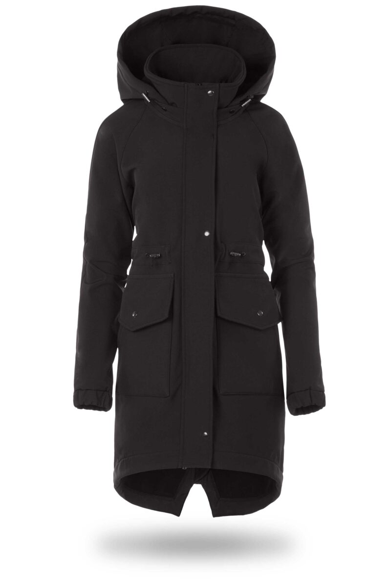 Fun2bemum kurtka parka softshell do noszenia dzieci babywearing maternity jacket black czarny