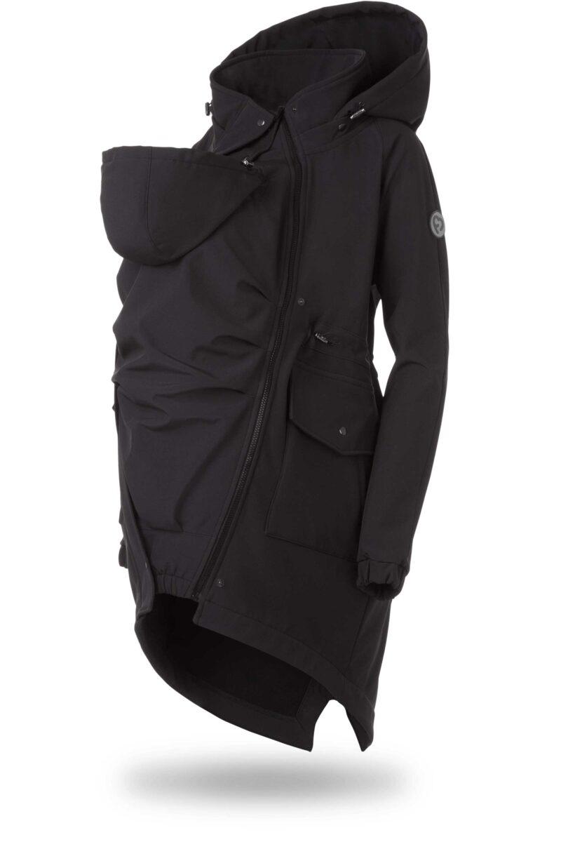 Fun2bemum kurtka parka softshell do noszenia dzieci babywearing maternity jacket black czarny 2