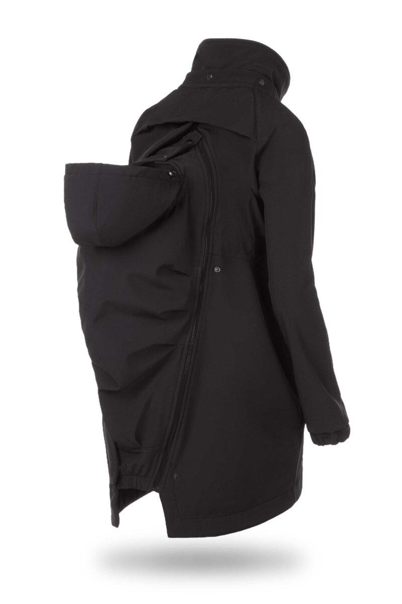 Fun2bemum kurtka parka softshell do noszenia dzieci babywearing maternity jacket black czarny 3