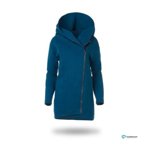 Fun2bemum babywearing coat Kaya plaszcz ciazowy do noszenia dzieci Petrol butelkowa zielen