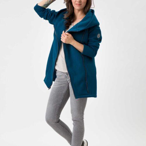 Fun2bemum babywearing coat Kaya plaszcz do noszenia dzieci petrol green zielen butelkowa 2